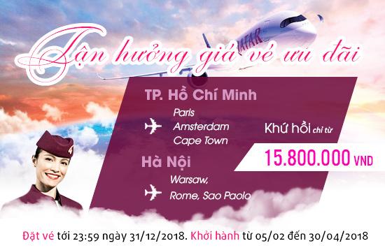 vé máy bay khuyến mãi qatar airways