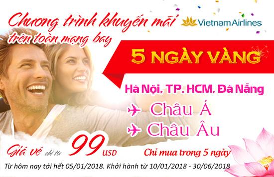 5 ngày vàng khuyến mãi vietnam airlines
