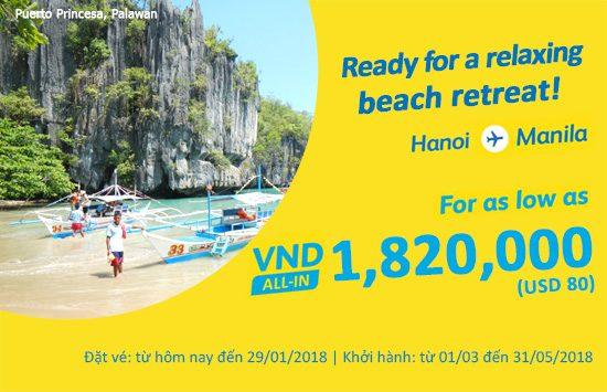 Cebu Pacific khuyến mãi vé may bay giá rẻ