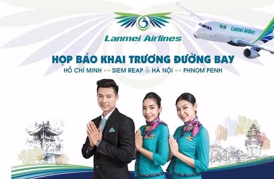 vé máy bay lanmei airlines đi campuchia