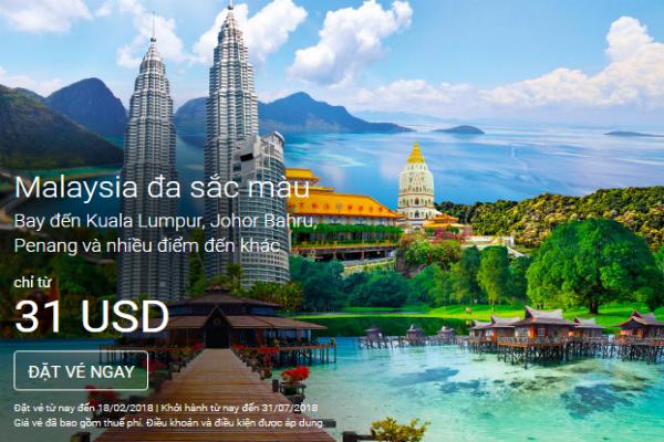 đặt vé máy bay airasia khuyến mãi giá rẻ