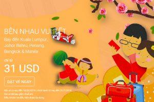 Vé 31 USD, bên nhau vui Tết cùng AirAsia!