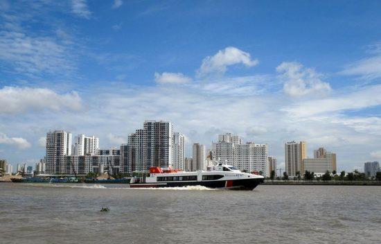 tuyến tàu cao tốc TPHCM - Cần Giờ - Vũng Tàu - Bến Tre đi vào hoạt động