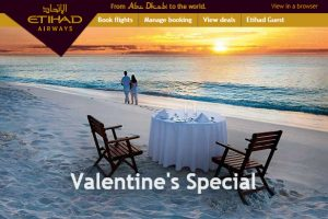 Tận hưởng mùa Valentine ngọt ngào cùng Etihad Airways