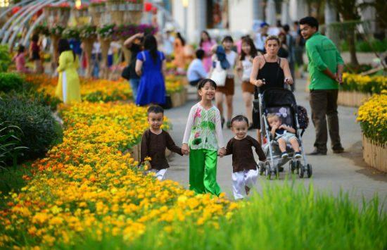 du lịch sài gòn hội hoa xuân phú mỹ hưng