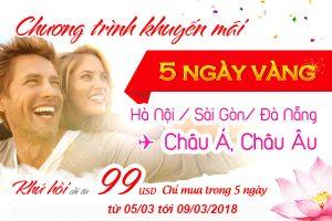 Vietnam Airlines: Bay cùng Hoa Sen tháng 3, vé 99 USD