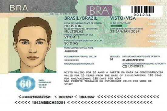 hồ sơ xin visa đi brazil