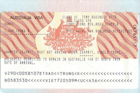nộp đơn xin visa đi úc