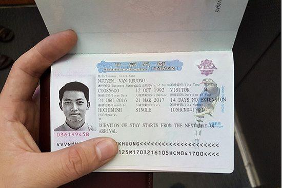 xin visa du lịch vào đài loan