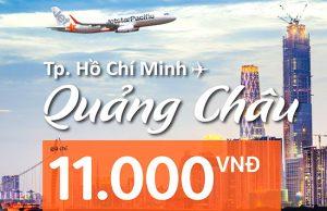 Jetstar tung vé 11.000đ bay Quảng Châu