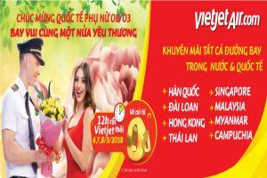 """Vietjet Air: """"Chúc mừng quốc tế phụ nữ 8/03 – bay vui cùng nửa yêu thương"""""""