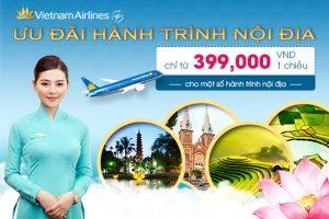 Vietnam Airlines Ưu đãi nhiều hành trình nội địa giá chỉ từ 399.000 đồng