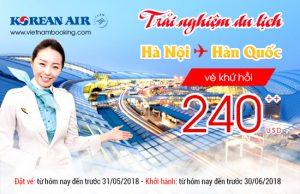 Chỉ từ 240 USD cùng Korean Air vi vu Hàn Quốc