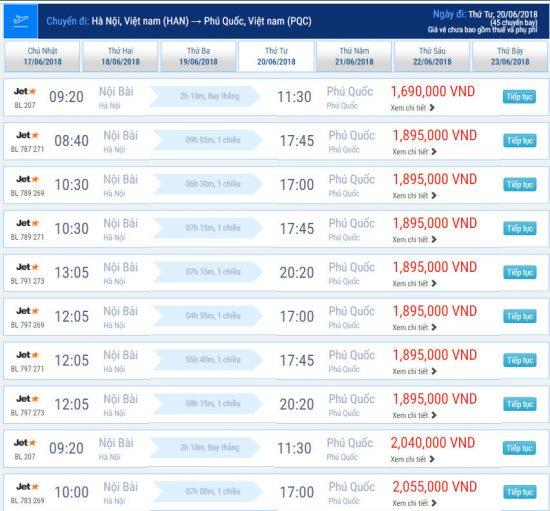 Chặng bay Hà Nội – Phú Quốc chỉ từ 1,580,000 VNĐ