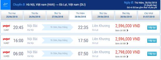 Vé máy bay từ Hà Nội đi Đà Lạt