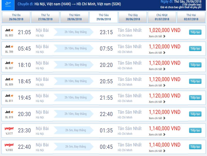 Tư vấn đặt vé máy bay từ Hà Nội đi Sài Gòn giá tốt nhất