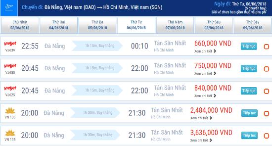 Hành trình Đà Nẵng – Sài Gòn với giá vé chỉ từ 660,000 VNĐ