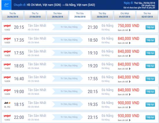 Hành trình Sài Gòn – Đà Nẵng với giá vé chỉ từ 750,000 VNĐ