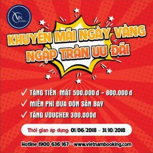 Mỗi tháng một ngày vàng – ngập tràn ưu đãi cùng Vietnam Booking