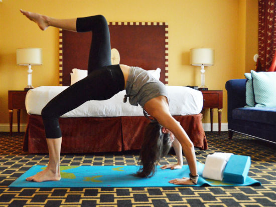 Thảm yoga được miễn phí tại khách sạn