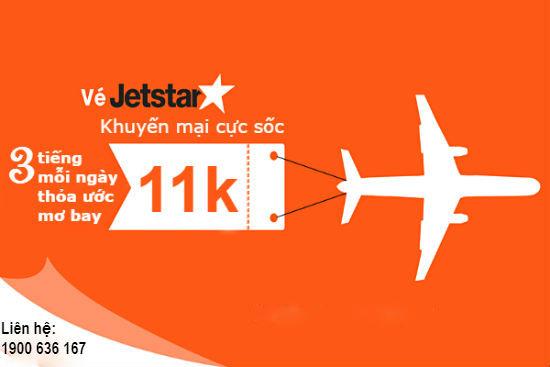 Săn vé khuyến mãi Jetstar từ 11,000 VNĐ