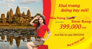 """Vietjet Air """"khuấy động"""" đường bay Nha Trang – Siem Reap với vé chỉ từ 399,000 VNĐ"""
