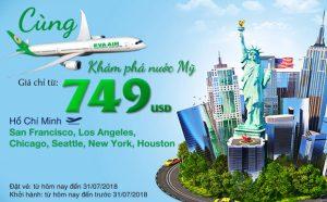 Cùng Eva Air khám phá nước Mỹ rộng lớn chỉ từ 749 USD