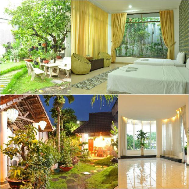 Vườn cây tại Khách sạn Mekong