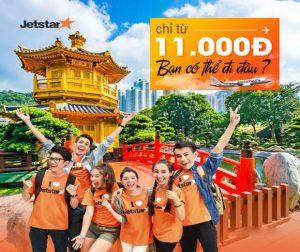 11 giờ rồi! Jetstar mở bán vé rẻ bay thả ga từ 11,000 VNĐ