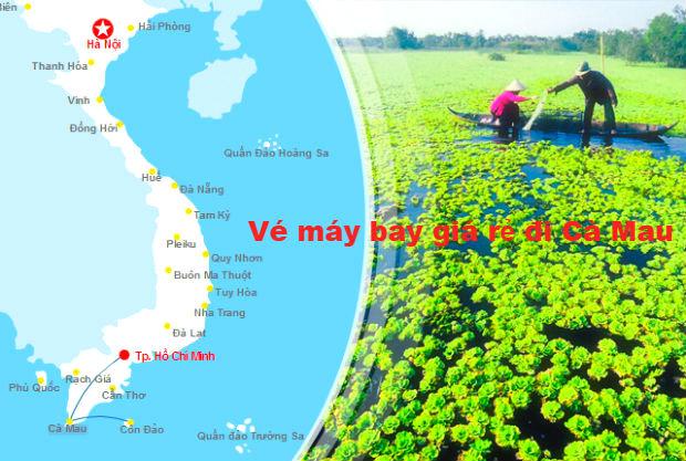 Giá vé máy bay đi Cà Mau tại Vietnam Booking