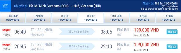 giá vé máy bay đi Huế từ 199,000 VNĐ