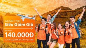 Săn vé rẻ nội địa Jetstar cuối tuần + thứ hai chỉ từ 140.000 đồng