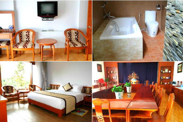 Resort Mỹ Lệ với nội thất khá bắt mắt