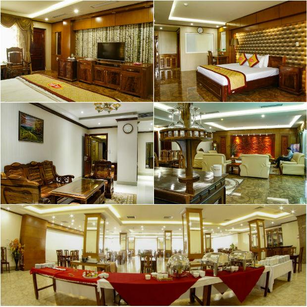 Đa phần nội thất tại khách sạn Sunny được làm từ chất liệu gỗ
