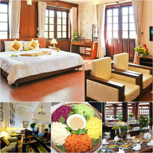 Resort Him Lam Điện Biên rất ấm cúng với đồ nội thất gỗ
