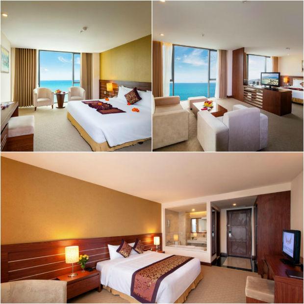 Căn phòng view biển tại Khách sạn Mường Thanh Grand Nha Trang