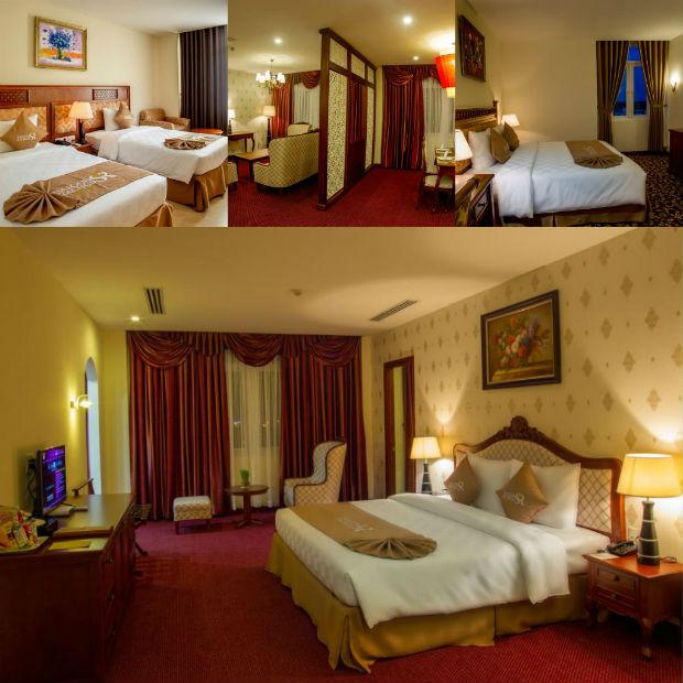 Các phòng tại Khách sạn Sài Gòn Rạch Giá