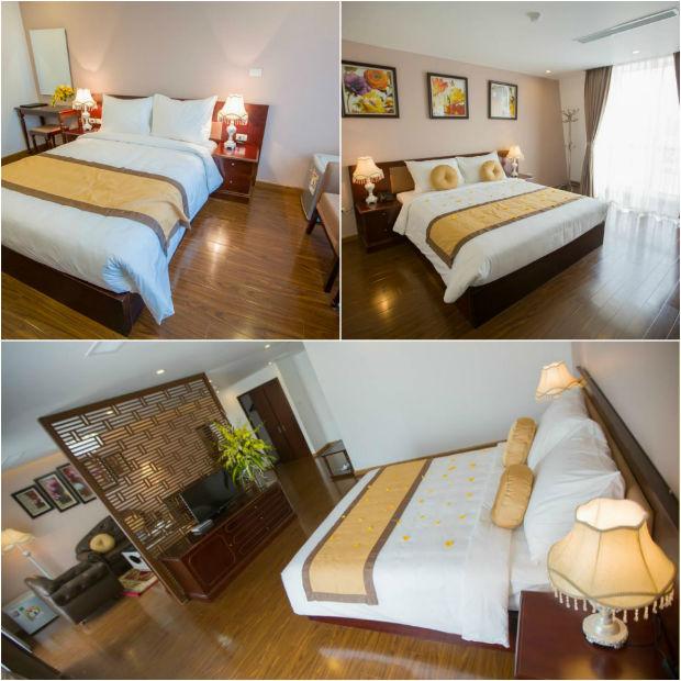 Phòng ngủ hiện đại, ấm cúng tại Khách sạn Vi's Boutique Lạng Sơn