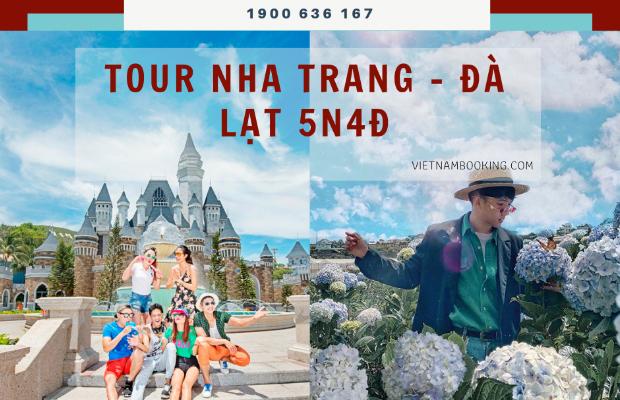 """Tour du lịch Nha Trang Đà Lạt 5 ngày 4 đêm   Hành trình """"Lên rừng xuống biển"""""""