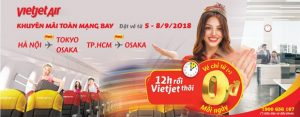 12h rồi! Săn vé 0 đồng bay cùng Vietjet Air ngay đi nào!
