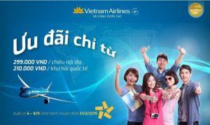3 ngày vàng ngập tràn khuyến mãi – Bay khứ hồi quốc tế cùng Vietnam Airlines chỉ từ 210.000 đồng