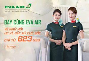 Bay cùng Eva Air – Vé khứ hồi cực sốc đi Úc và Bắc Mỹ chỉ từ 623 USD