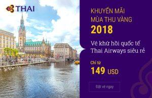 Săn ngay hôm nay – Vé khứ hồi quốc tế Thai Airways siêu rẻ chỉ từ 149 USD