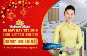 Giá vé máy bay Tết 2019 của hãng hàng không Vietnam Airlines