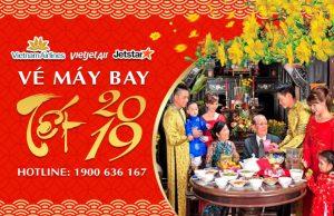 Đặt vé máy bay Tết 2019 giá rẻ | Vietnam Airlines | Vietjet Air | Jetstar Pacific
