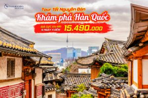 Tour tết Nguyên Đán 5 ngày 4 đêm khám phá cảnh đẹp Hàn Quốc – Seoul | Nami | Everland Park