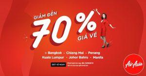 Ưu đãi đặc biệt – AirAsia giảm đến 70% giá vé đi Đông Nam Á