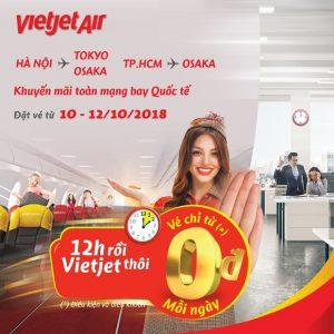 Vietjet Air – Khuyến mãi toàn mạng bay quốc tế với giá chỉ từ 0 đồng