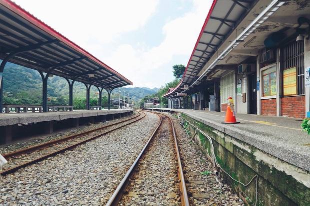 Bến tàu ở ga Shifen, cảnh này xuất hiện trong phim Đài Loan nhiều lắm