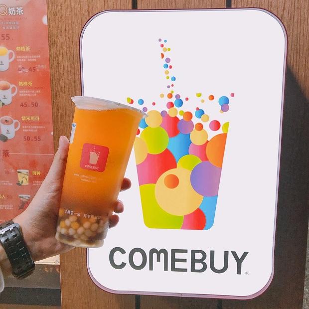 Trà sữa Comebuy uống khá ngon, được cái nhiều toping, giá tầm 50 NTD 1 ly
